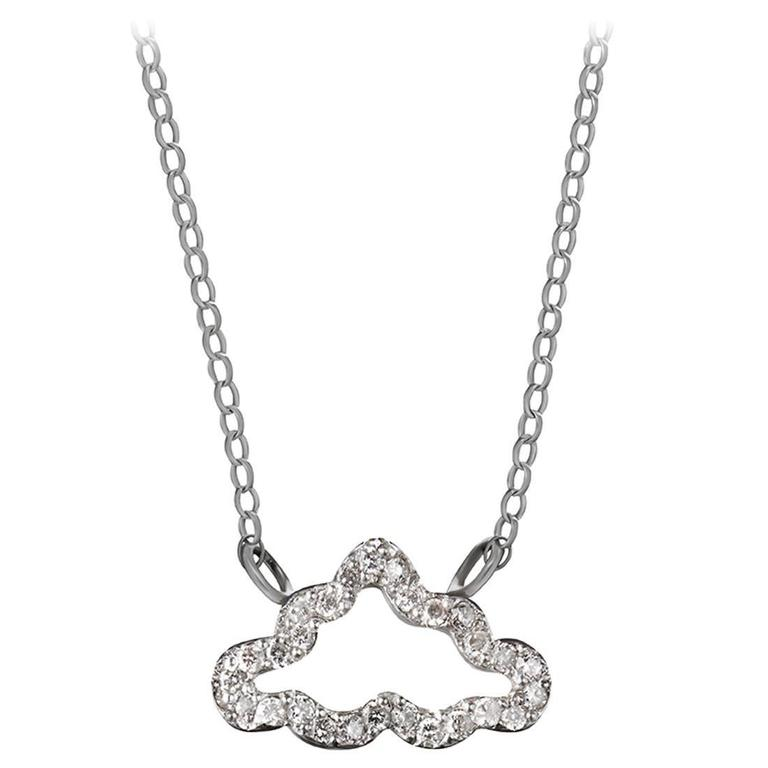 Diamond and Sterling Silver Necklace 1