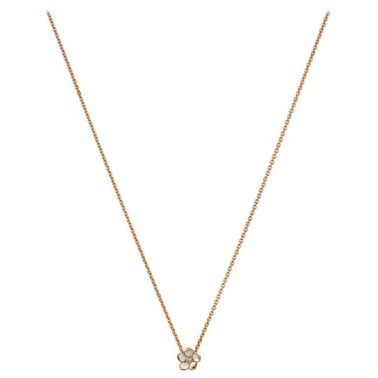 Shaun Leane Rose Gold Vermeil Cherry Blossom Necklace