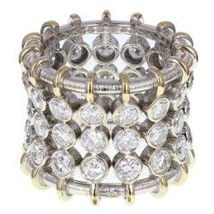 Fancy Style Diamond Set Band Ring