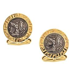 Alexander the Great Silver and Gold Cufflinks