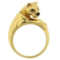 Cartier Panthere Onyx Emerald Gold Ring