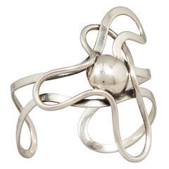 Modernist Napier Sterling Silver Cuff