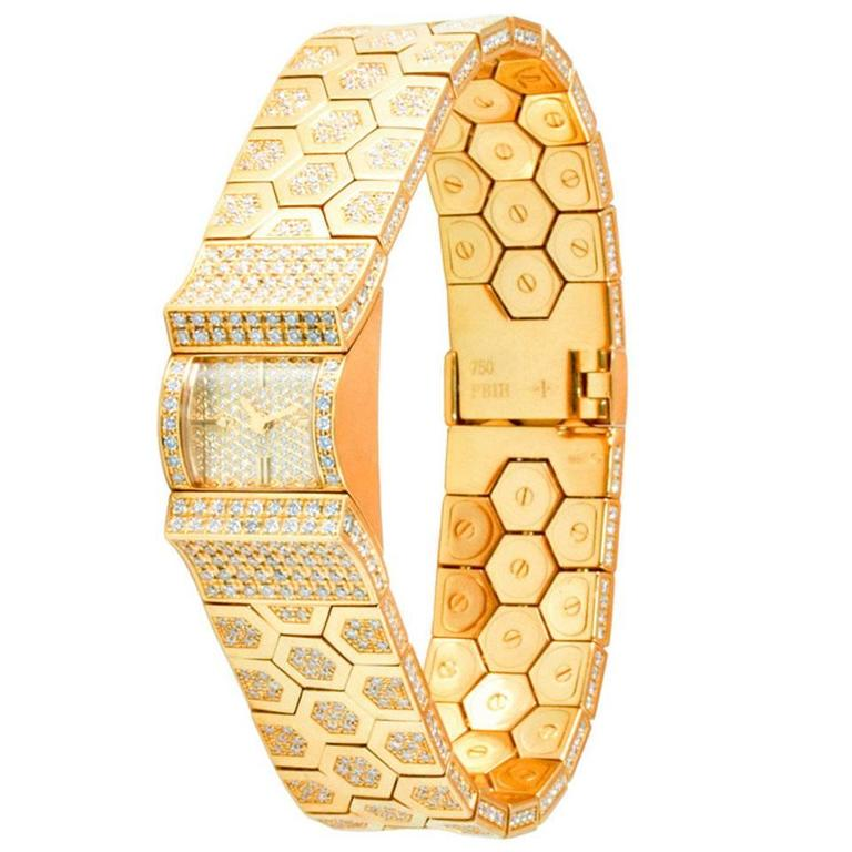 Van Cleef & Arpels Ludo Swann Lady's Diamond and Gold Wristwatch