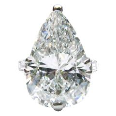 Cartier 8.20 Carat Pear Diamond Platinum Ring