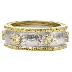 F. Vergano Diamond Two Color Gold Ring