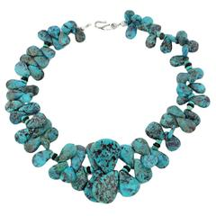 Blue and Chocolate Turquoise Necklace