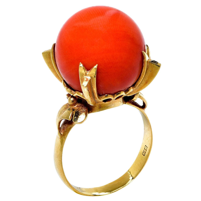 coral gold ring at 1stdibs