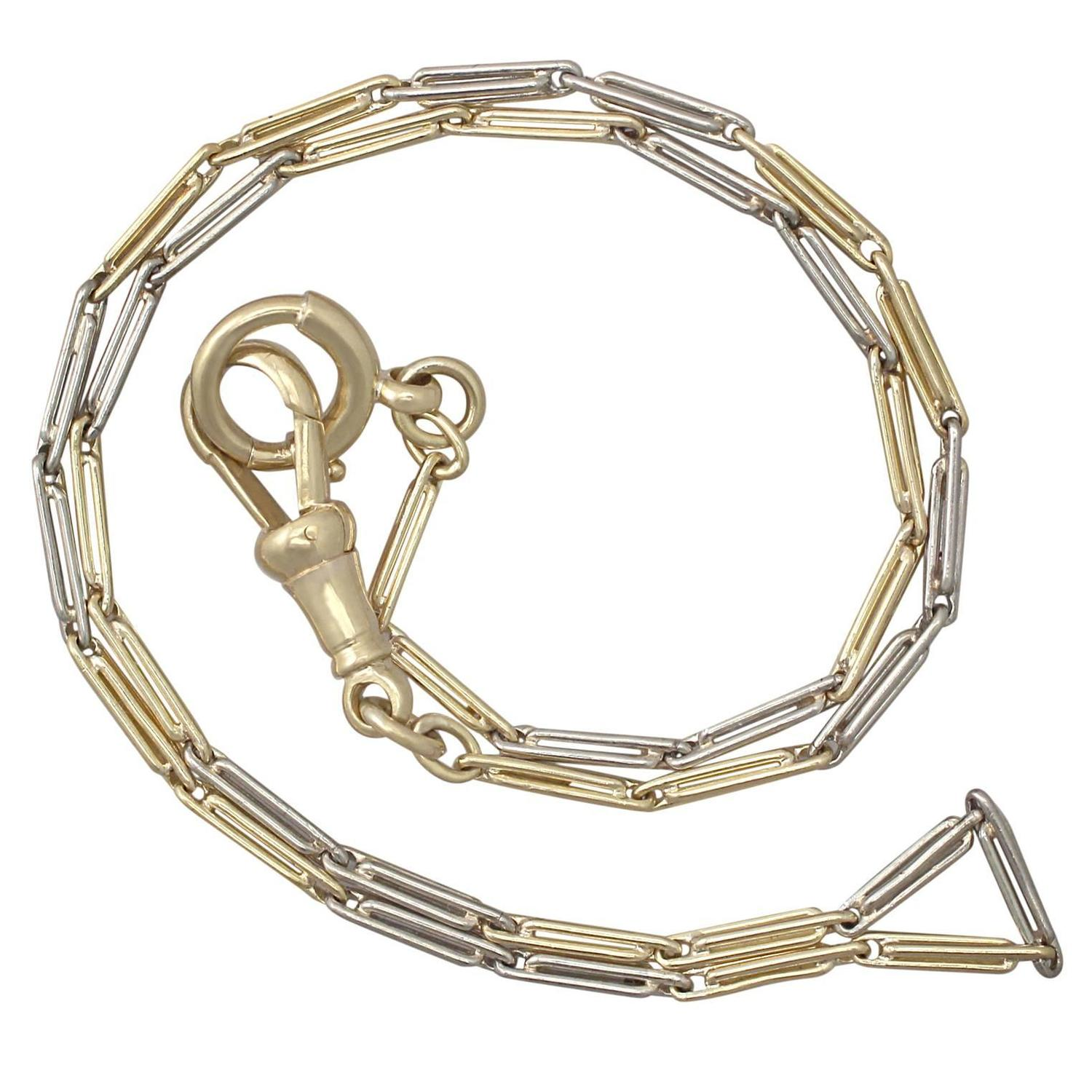 White Gold Chain Bracelet: 18k Yellow Gold And 18k White Gold Chain / Bracelet