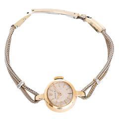Rolex Lady's Yellow Gold Rope Style Bracelet Wristwatch