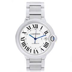 Cartier Stainless Steel Ballon Bleu Automatic Wristwatch Ref W69012Z4