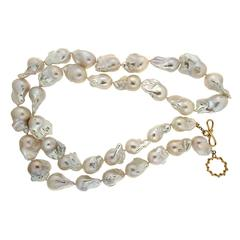 Large Fresh Water Baroque Pearl Necklace