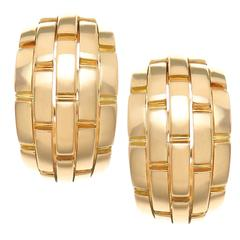 Cartier Maillon Panthere Gold Earrings