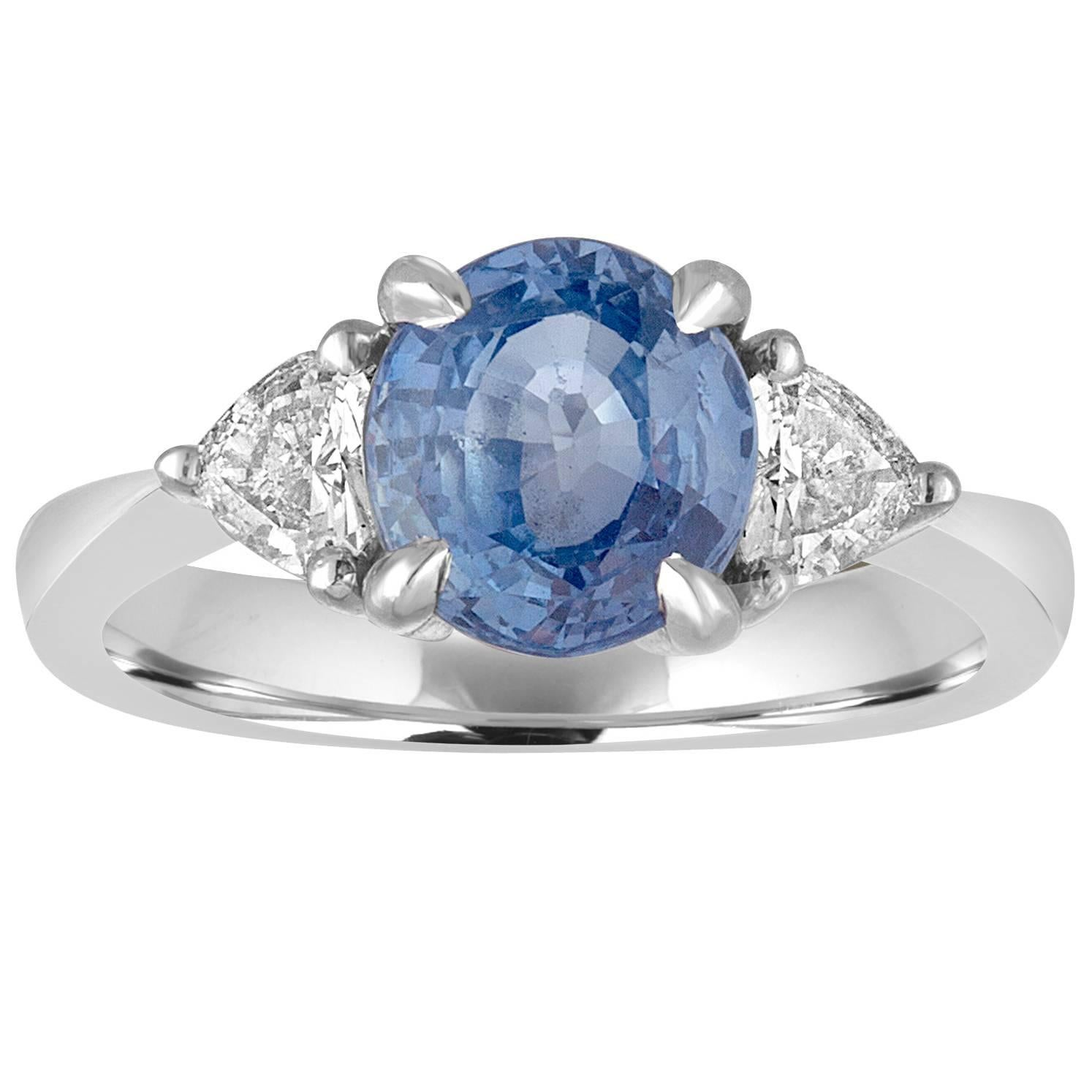 engagement sapphire blue i ct ring cut square views dark diamond a platinum rings untreated more