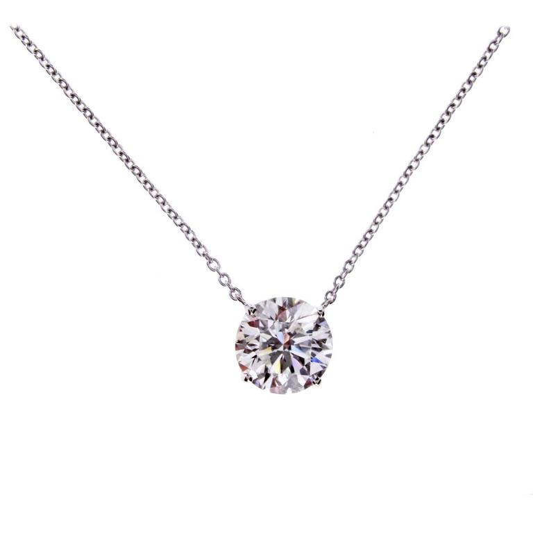 htm solitaire and rhodium pendant necklace swarovski crystal jewelry