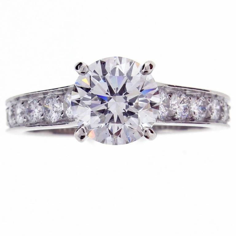 1895 Cartier 1.50 Carat Diamond Platinum Solitaire Ring