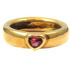 Tiffany & Co. Ruby Heart Gold Ring