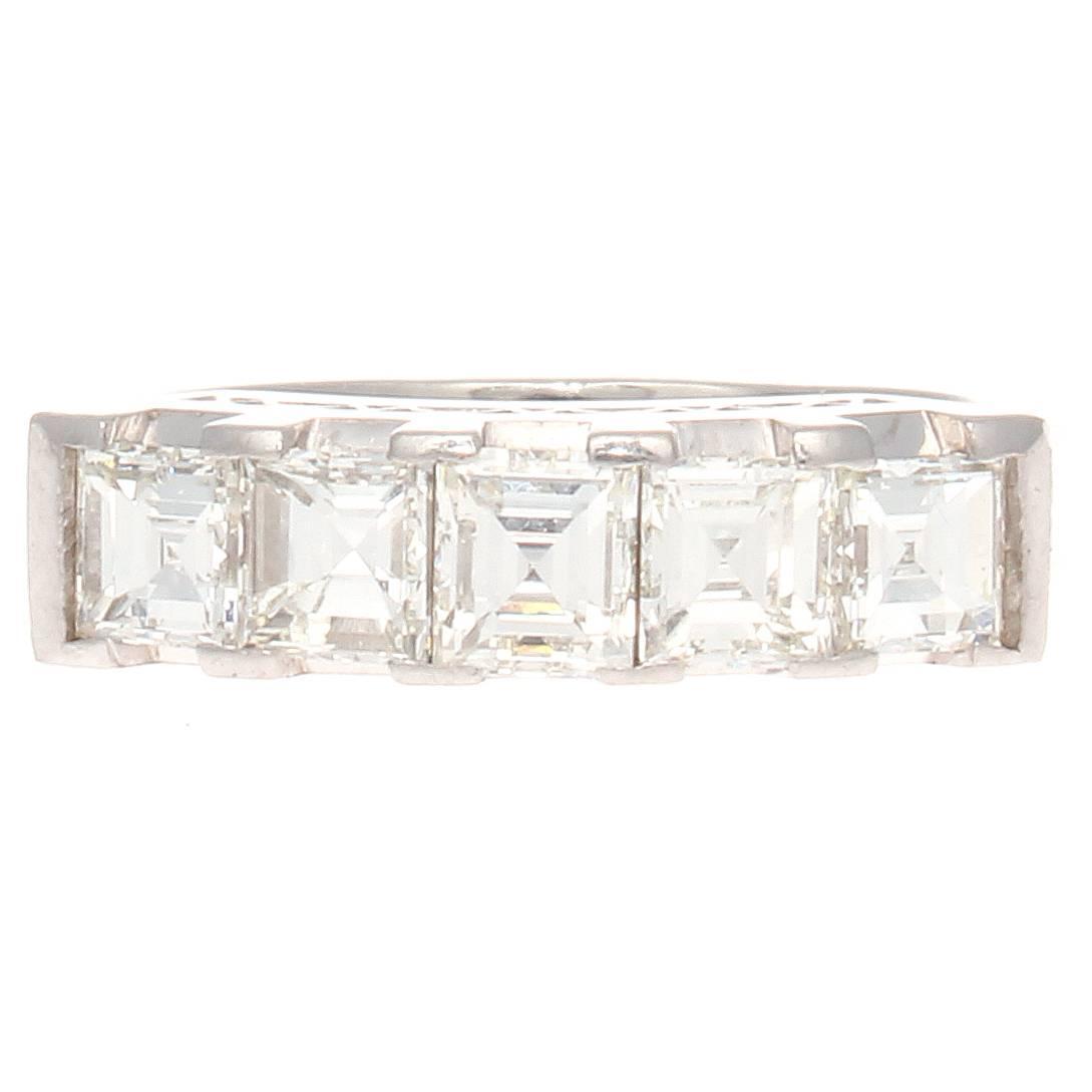 1 50 ct Asscher Cut Diamond Platinum Ring at 1stdibs
