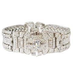 Drayson Art Deco Diamond Platinum Bracelet