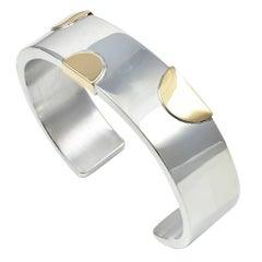 William Spratling Sterling Silver Gold Bracelet
