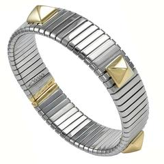 Bulgari Tubogas Steel Gold Bracelet