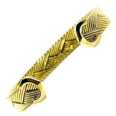 Cartier C De Cartier Weave Design Gold Bracelet