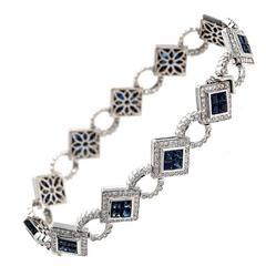 Dilamani Sapphire Diamond Gold Bracelet