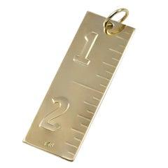 Golden Rule Gold Charm
