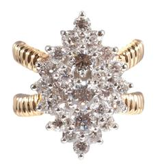 Diamond Two Color Gold Ring