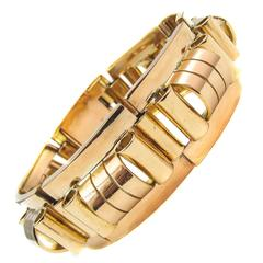 French  Retro Rose Gold Bracelet