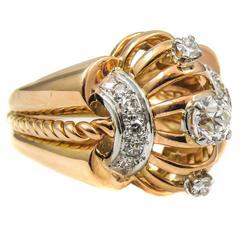 Retro Diamond Gold Ring