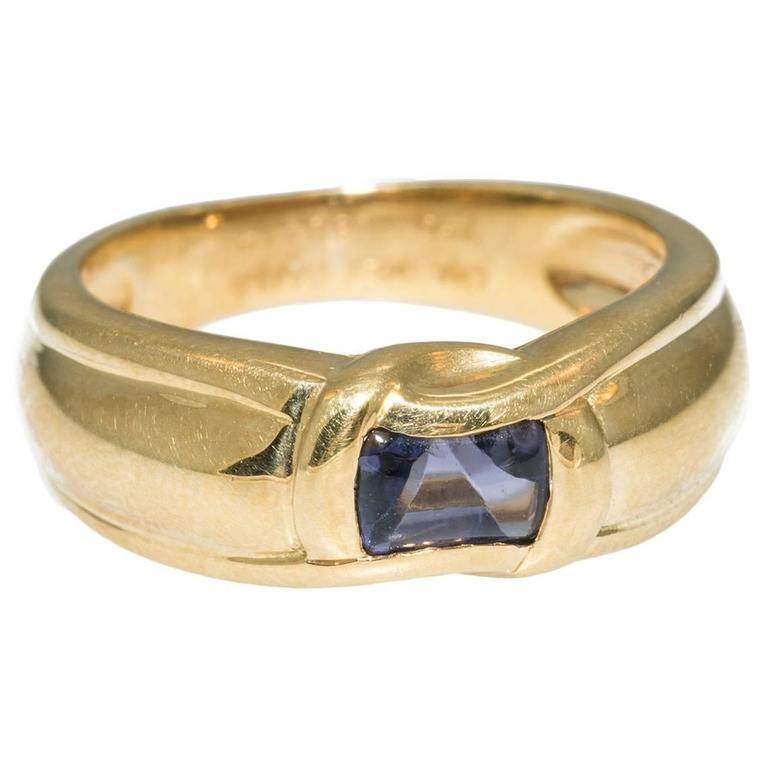 Chaumet paris sapphire gold ring at 1stdibs for Chaumet wedding ring