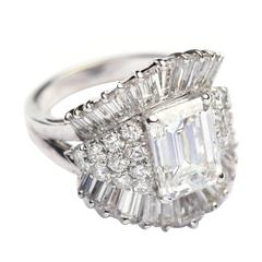 2.66 Carat Diamond Gold Ring