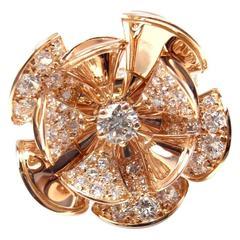 Bulgari Diva Dream 3.15 Carats Diamonds Gold Ring