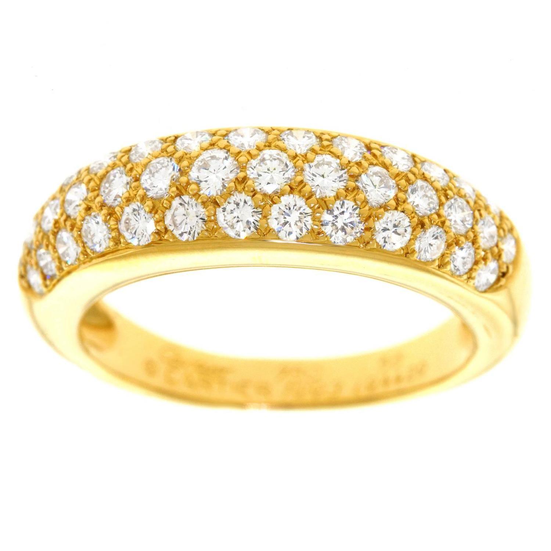 cartier mimi diamond set gold ring