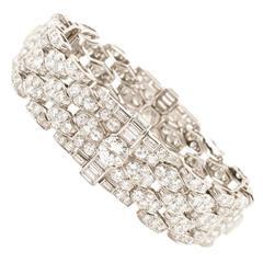 Bulgari Art Deco Diamond Platinum Bracelet