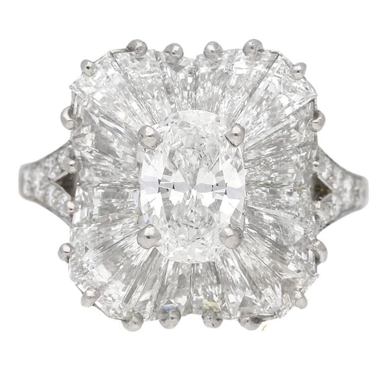 1970 Tiffany & Co. Diamond Platinum Ballerina Ring