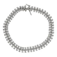 8.04 Carat Diamond White Gold Bracelet