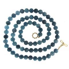 Multi-Shade Aquamarine Beads Necklace