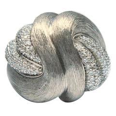 Henry Dunay Diamond Platinum Swirl Ring