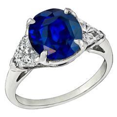 Stunning 3.17ct Sapphire Diamond Engagement Ring