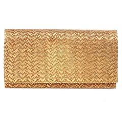 1960s Hardcase Gold Evening Clutch Bag