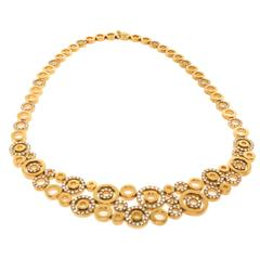 Diamond Gold Circles Necklace