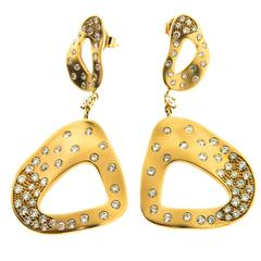 Gatto Gold Satin Florest Earrings