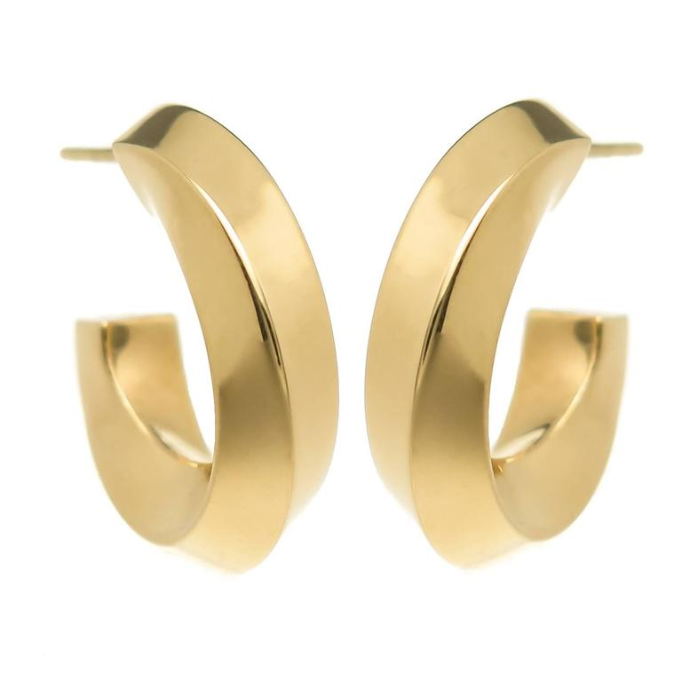Tiffany Co Gold Hoop Earrings For