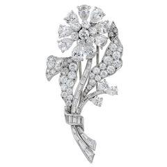 Van Cleef & Arpels Diamond Flower Pin