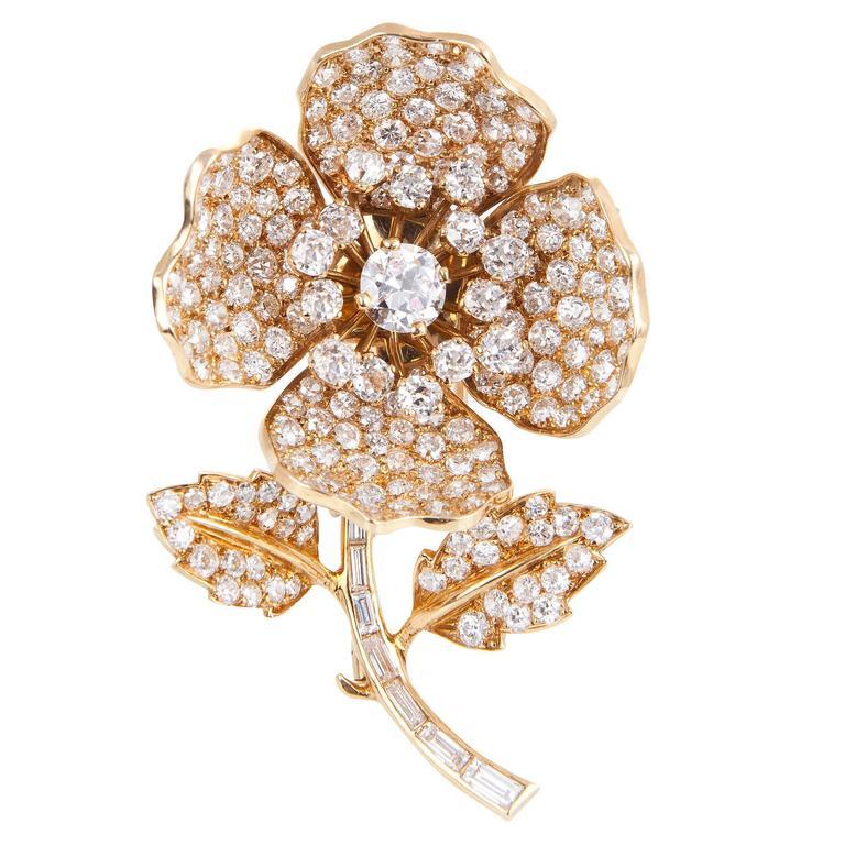 Boucheron Interchangeable Enamel Diamond Gold Brooch For Sale