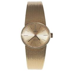 Omega Lady's Yellow Gold DeVille Wristwatch
