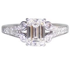 Cartier 1.55 Carat GIA Cert Diamond Platinum Engagement Ring