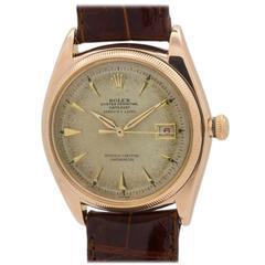 Rolex Rose Gold Datejust Automatic Wristwatch Ref 4417