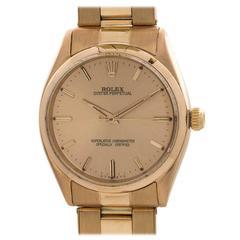 Rolex Rose Gold Oyster Perpetual Wristwatch Ref 1005